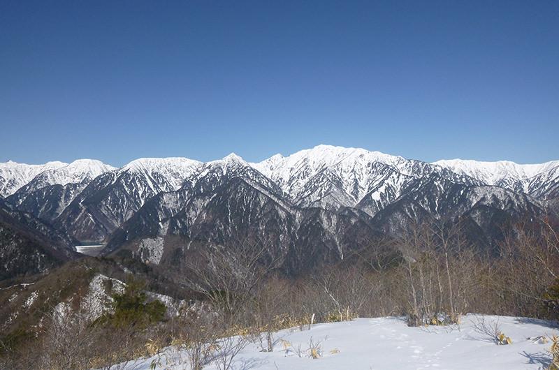鍬の峰から蓮華岳針ノ木岳 3月