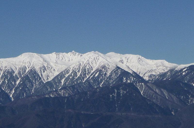 戸倉山から木曽駒が岳