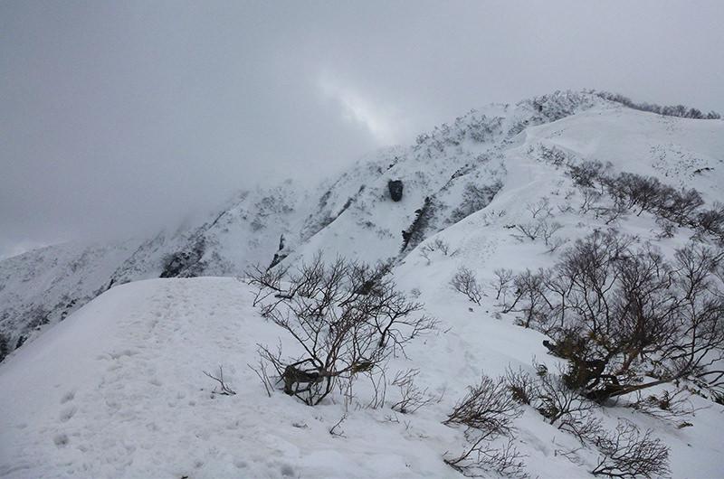 荒島岳最期の登り 2月