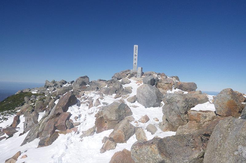 白山山頂(御前峰)11月